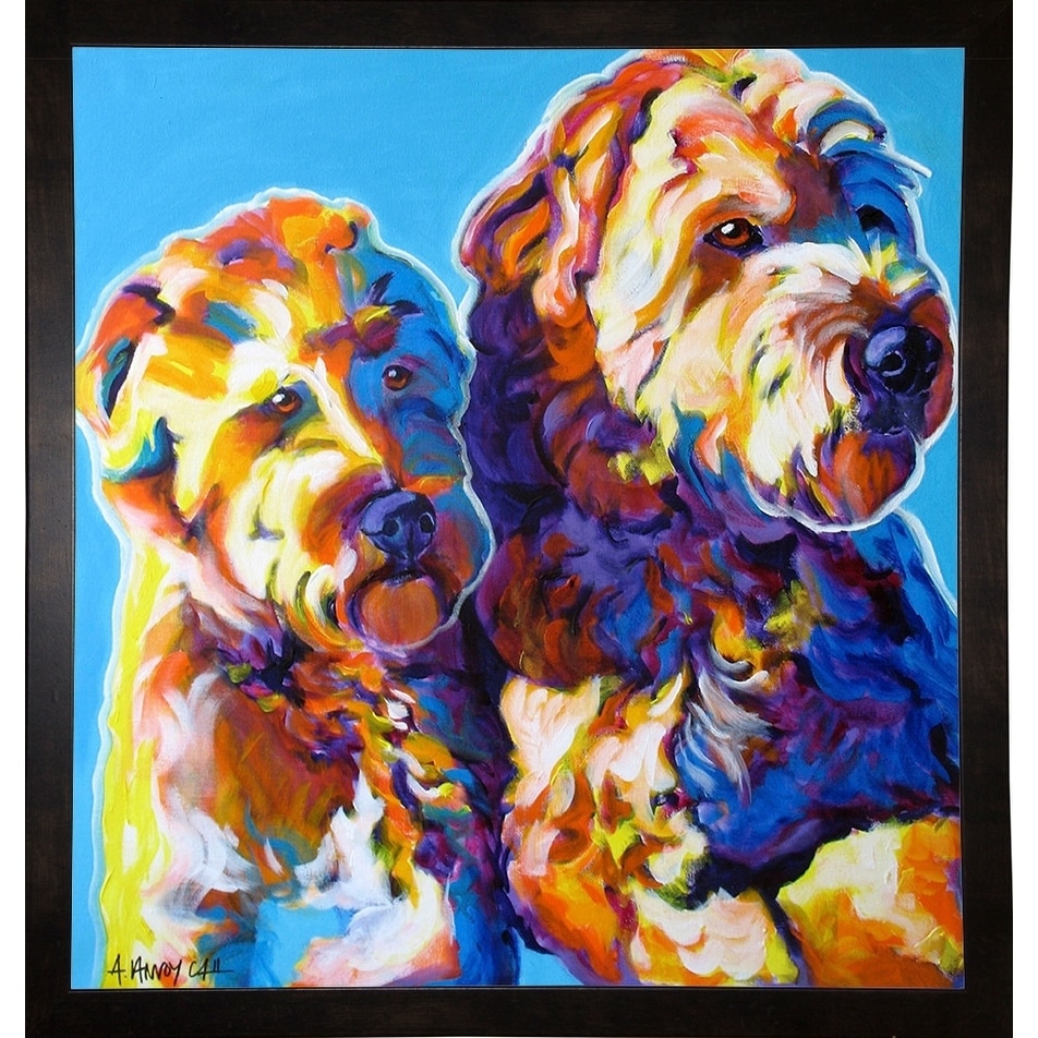 "Max and Maggie-DAWART124117  Print 13.5""x12.75"" by DawgArt"