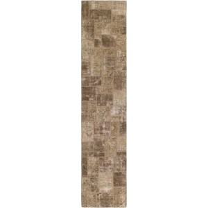 Hand Knotted Ultra Vintage Wool Runner Rug - 2' 8 x 13' 5