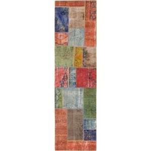 Hand Knotted Ultra Vintage Wool Runner Rug - 2' 7 x 9' 5