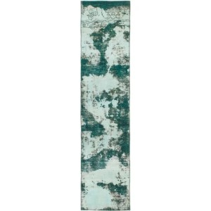 Hand Knotted Ultra Vintage Wool Runner Rug - 2' x 9' 5