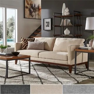 living room loveseat extensions buy loveseats online at overstock com our best vail linen upholstered sofa and by inspire q modern