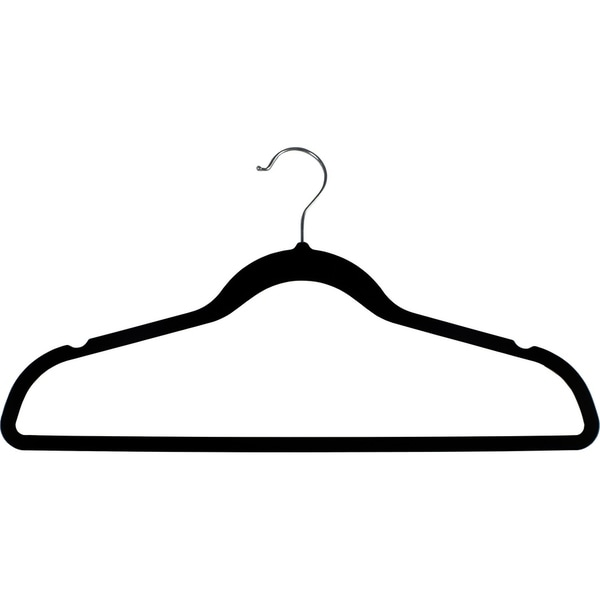 Shop Black Rubber Coated Non-Slip Slim Line Suit Hanger