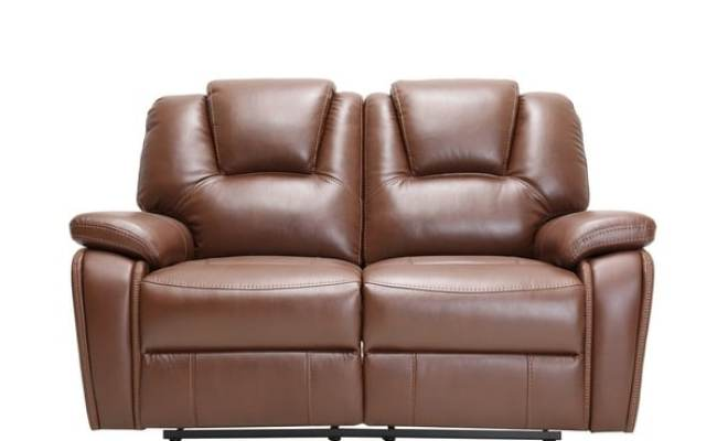 Shop Traditional Brown Faux Leather Upholstered Power
