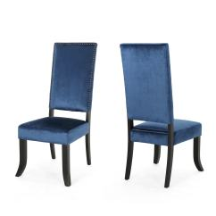 Blue Chair Jam Hanging Zippay Nailhead Dining Chairs Zef