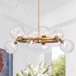 Shop Black Friday Deals On Arroyo 28 Inch Gold Finish Clear Glass Globe Chandelier Bulbs Included On Sale Overstock 24148397