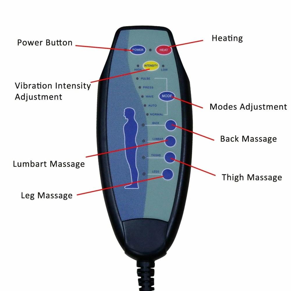 medium resolution of shop kinbor 8 motor massage chair recliner w ottoman lumbar heat free shipping today overstock 24151673