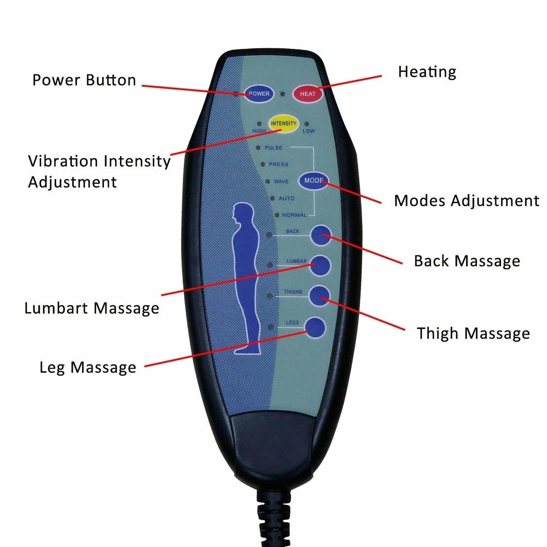 hight resolution of shop kinbor 8 motor massage chair recliner w ottoman lumbar heat free shipping today overstock 24151673