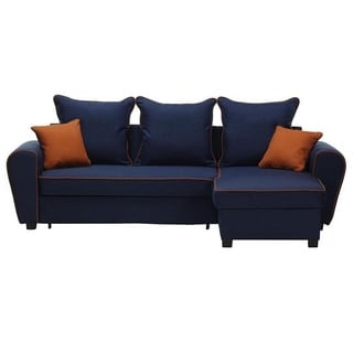 kendrick sleeper chair and a half ball chairs for work buy blue sectional sofas online at overstock com our best sally right corner sofa bed
