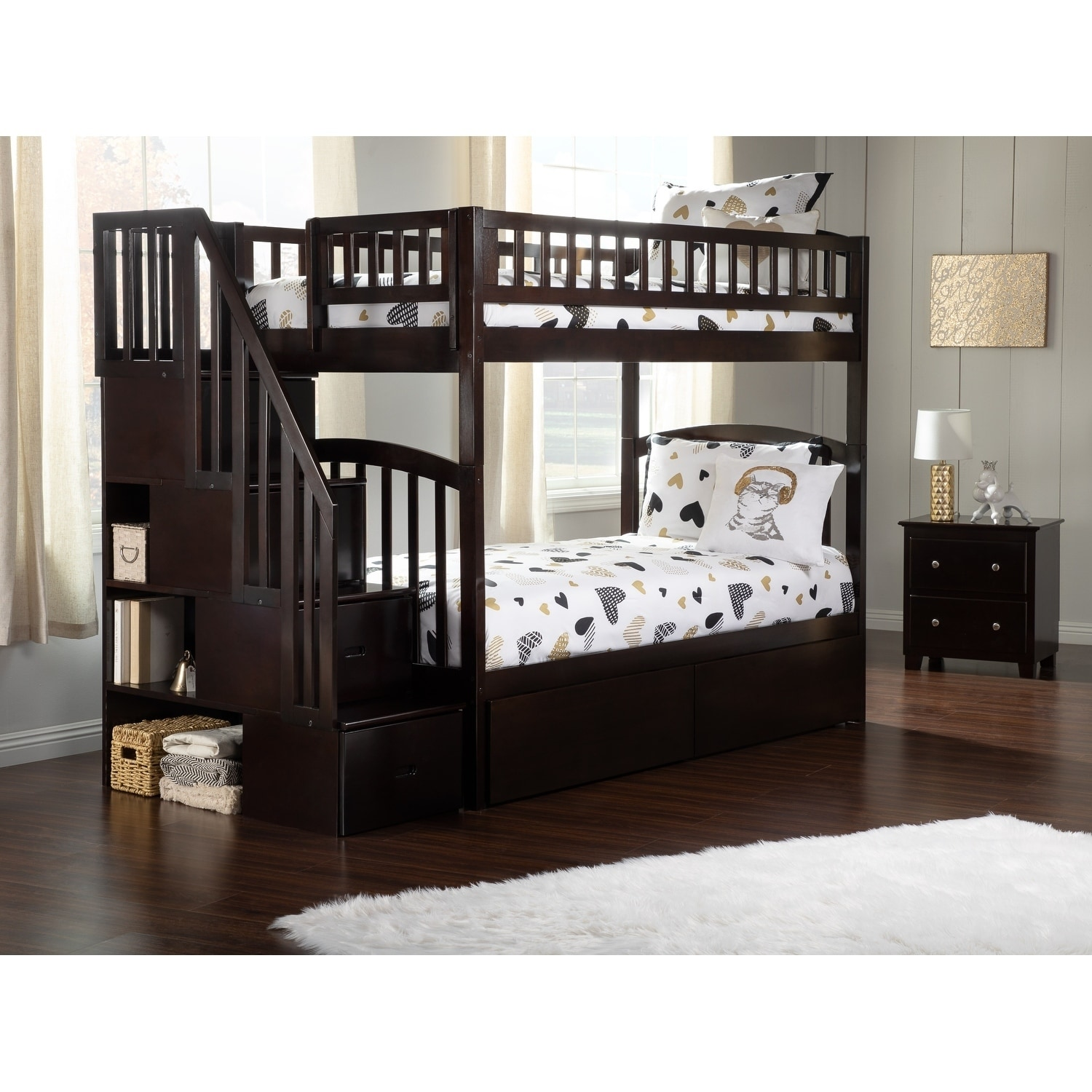 Espresso Bunk Beds With Stairs Laptrinhx News