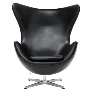mid century egg chair wooden baby doll high plans buy modern living room chairs online at leisuremod modena black leather upholstered accent lounge