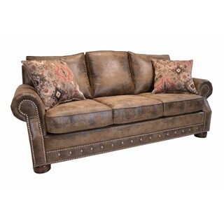 southwestern sofas horchow sofa buy couches online at overstock com our best magnus brown with nailhead trim