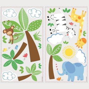 Baby Safari Wall Decal 47 decals