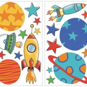Planets & Rockets Wall Decal 39 decals