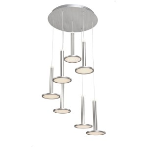 Artcraft Lighting Aurora Brushed Aluminum Metal 5-light Chandelier