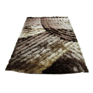 SAD 280 Brown Area Rug Carpet 3D Shaggy Shag - 8' x 10'