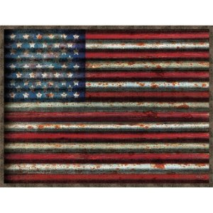 American Flag Framed Canvas Wall Art