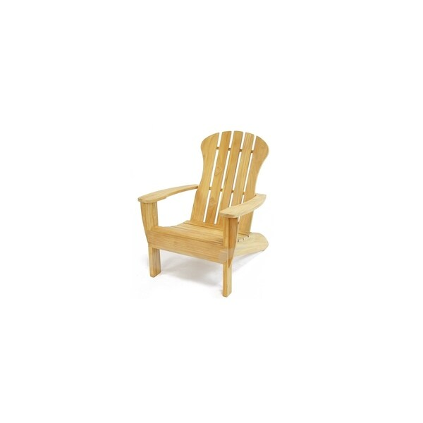 leanback lounger chairs glider rocking chair replacement covers shop adirondack natural teak lounge free shipping today overstock com 24263862