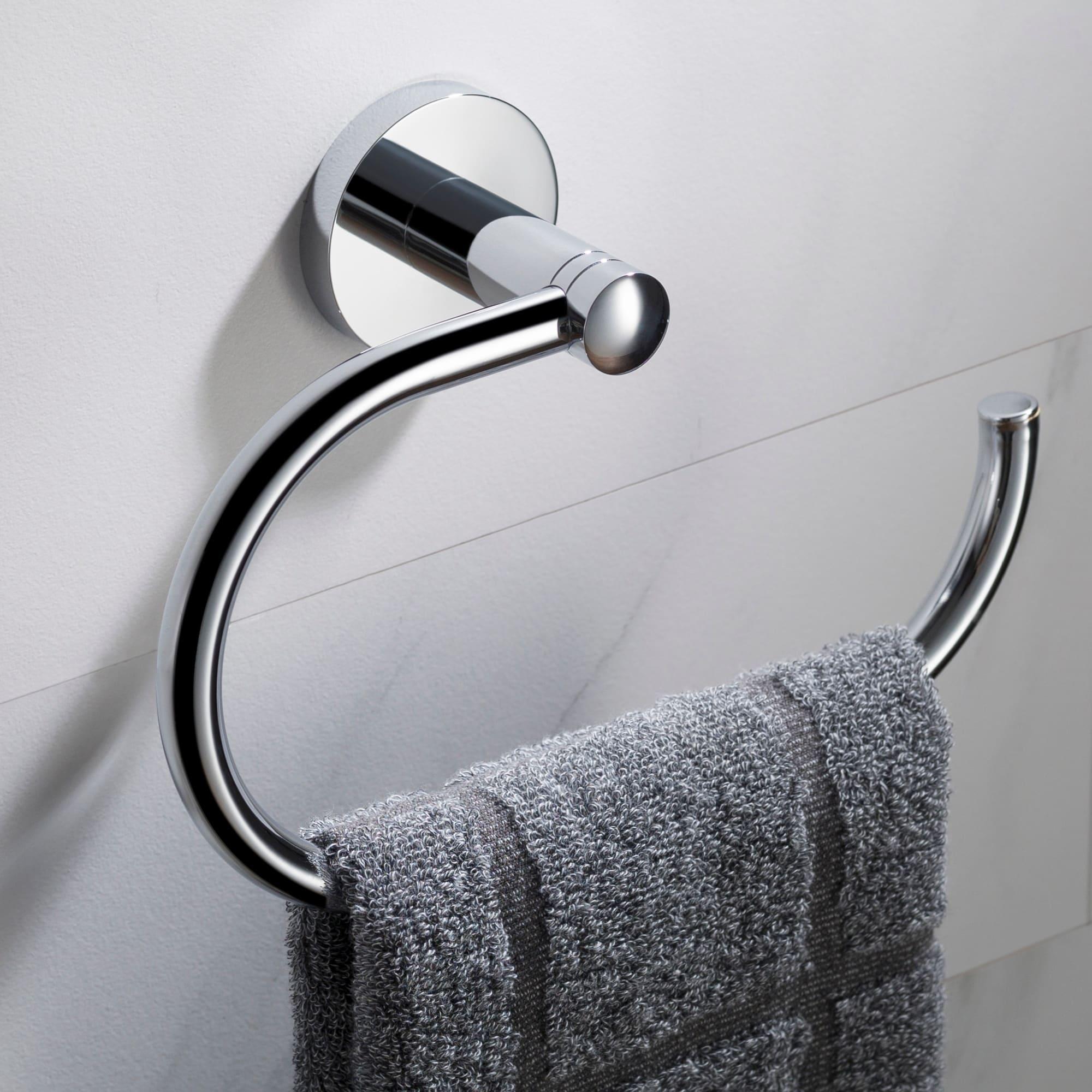 KRAUS Elie KEA-18825 Bathroom Towel Ring in Chrome, Brushed Nickel, Matte Black Finish