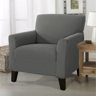 gray chair slipcover caster chairs on wood floors buy grey covers slipcovers online at overstock com our best furniture deals