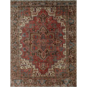 Noori Rug Greta Rust/Brown Vintage Distressed Area Rug - 8'9 x 12'0