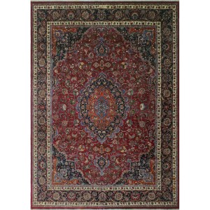Noori Rug Wynter Burgundy/Blue Vintage Distressed Area Rug - 9'9 x 13'0
