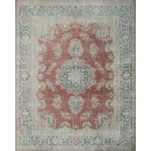 Noori Rug Harlow Rust/Blue Vintage Distressed Area Rug - 9'8 x 12'6