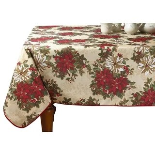lenox christmas chair covers olive green shop holiday nouveau table cloth by free shipping on orders violet linen european poinsettia garden design printed tablecloth
