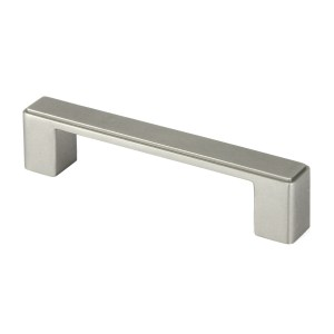 Contemporary 4.5-inch Nepoli Stainless Steel Brushed Nickel Finish Square Cabinet Bar Pull Handle (Case of 10)