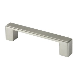 Contemporary 4.5-inch Nepoli Stainless Steel Brushed Nickel Finish Square Cabinet Bar Pull Handle (Case of 15)