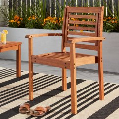 Outdoor Stackable Chairs Canada For Vanity Tables Shop Amazonia Eucalyptus Wood Chair Ships To