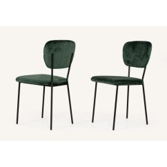 Modern Green Dining Chairs Spanish Shop Modrest Billy Velvet Chair Set Of 2 On