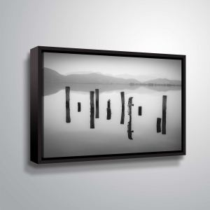 "ArtWall ""Poles in Reflection"" Gallery Wrapped Floater-framed Canvas"