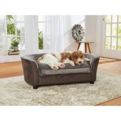 Enchanted Home Mackenzie Pet Sofa Gothic Leather Top Product Reviews For Skylar 18684070 Overstock Com Panache Dark Grey