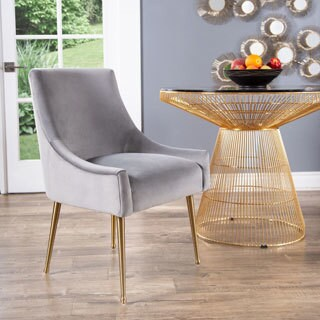 gold dining chairs ikea padded chair covers buy finish kitchen room online at overstock com abbyson bevie velvet