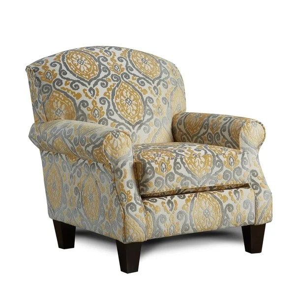 yellow upholstered accent chair toddlers table and chairs shop lanai maize coffee finish fabric free shipping today overstock com 25429549