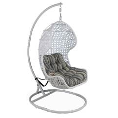 Buy Chair Swing Stand Dining Slip Covers Uk Shop Somette Santa Rosa White Rattan With Metal