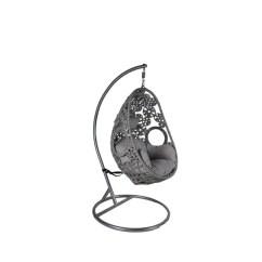 Swing Chair Metal Mid Century Modern Wood Shop Somette Santa Clara Grey Rattan With Stand