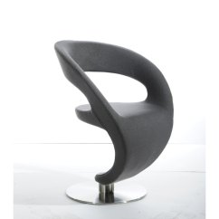 Steel Lounge Chair Pc Racing Shop Homeroots Furniture Modern Grey Upholstered Fabric With Round Stainless Base Free Shipping Today Overstock Com 25441633