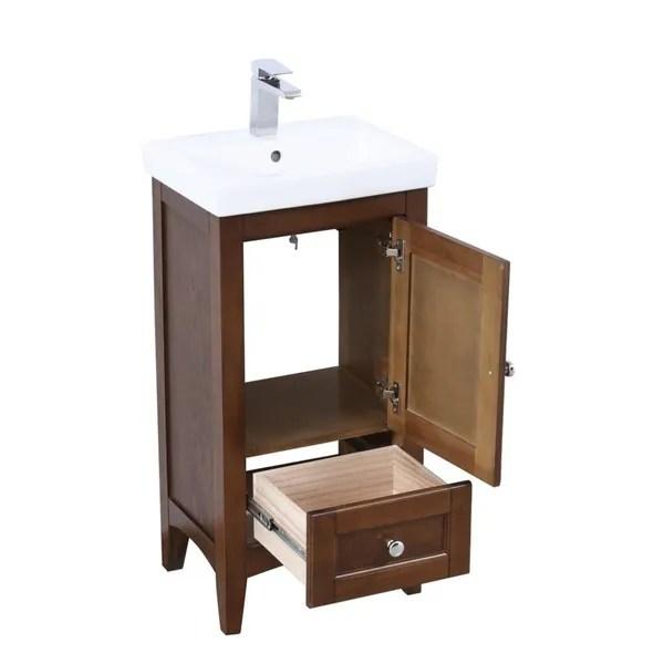 18 in single bathroom vanity set