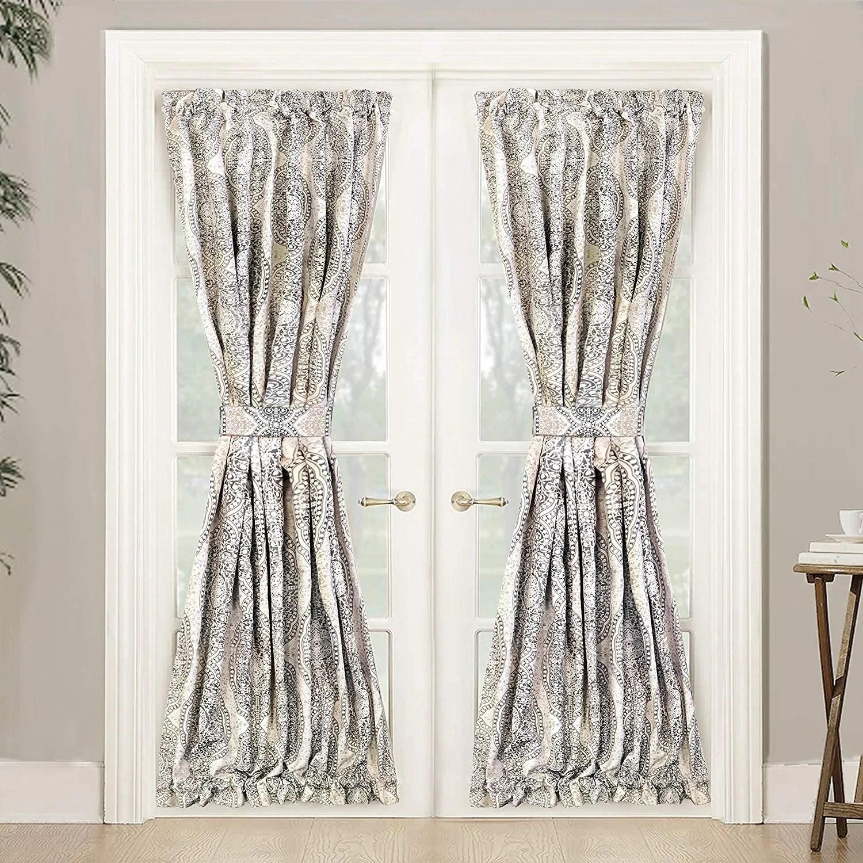 driftaway adrianne rod pocket room darkening patio french door single curtain panel