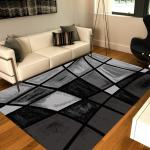 Frize Collection Victoria Polypropylene Area Rug Overstock 25452728 Black Gray 3 X 5