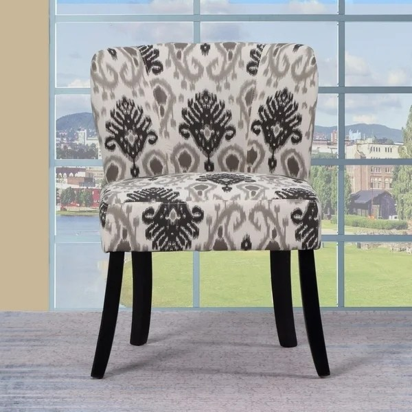 armless living room chairs dark blue sofa shop ashlee traditional upholstered chair free