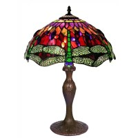 Shop Tiffany Style Dragonfly Table Lamp - Free Shipping ...