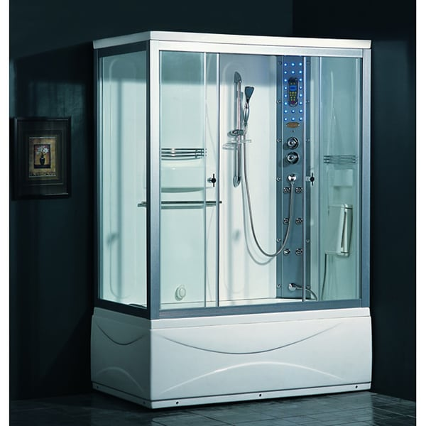 Shop Ariel 905 Steam Shower with Whirlpool Tub  Free Shipping Today  Overstock  2552433