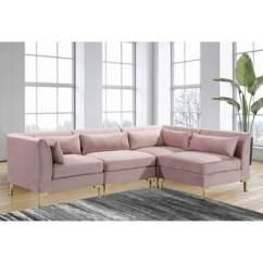 Modular Living Room Furniture Colours For Walls Buy Sectional Sofas Online At Overstock Com Our Best Chic Home Guison Chaise Sofa With 6 Throw Pillows