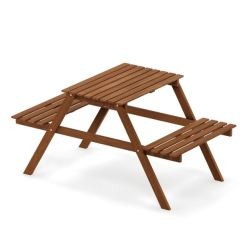 Folding Chair Picnic Table Amazon Shop Furinno Tioman Hardwood Kids And Set In Teak Se