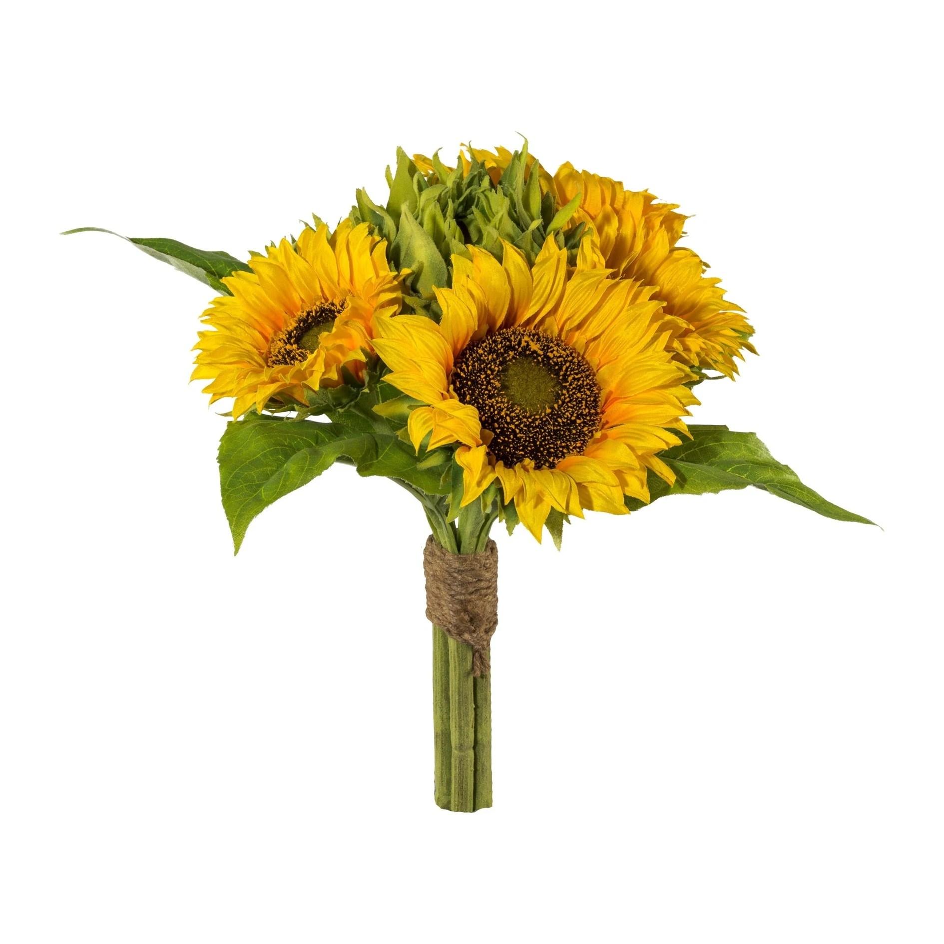 artificial fall sunflower bouquet