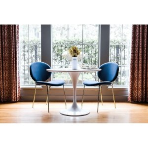 Danielle Glam Velvet Upholstered Dining Room Chair Set of 2