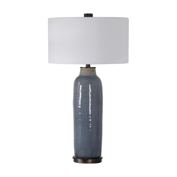 Uttermost Vicente Distressed Slate Blue Table Lamp