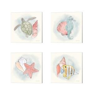 Sara Zieve Miller 'Sea Life' Canvas Art (Set of 4)